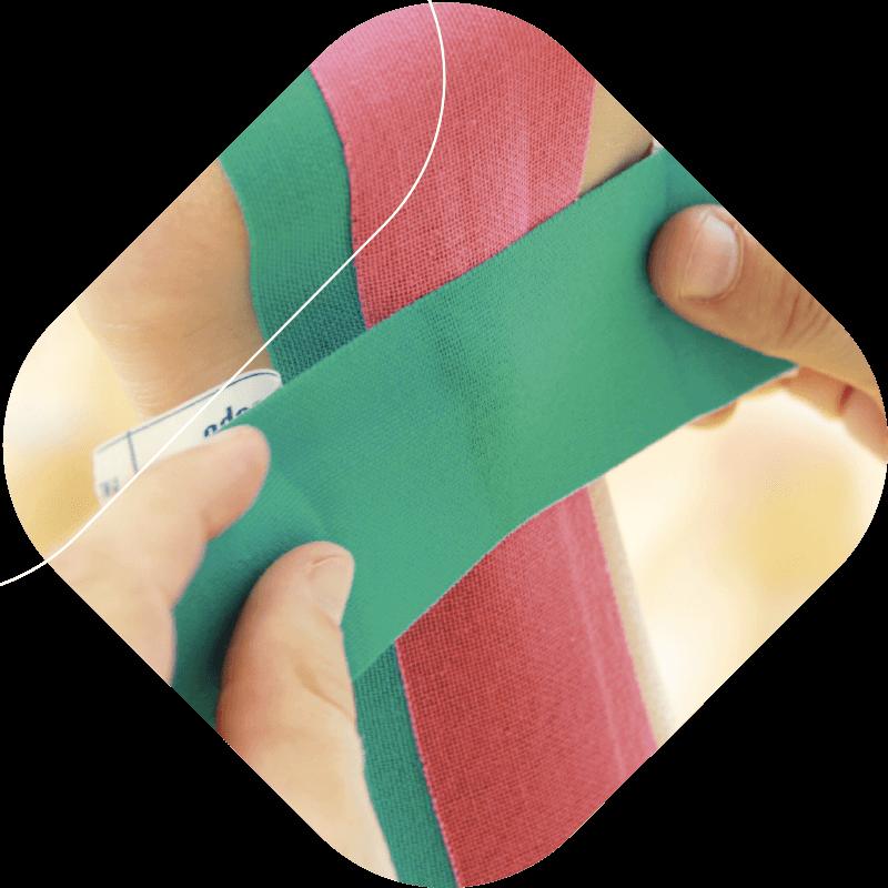 Therapie pro hombre / Anlage von funktionellen und kinesologischen Verbänden